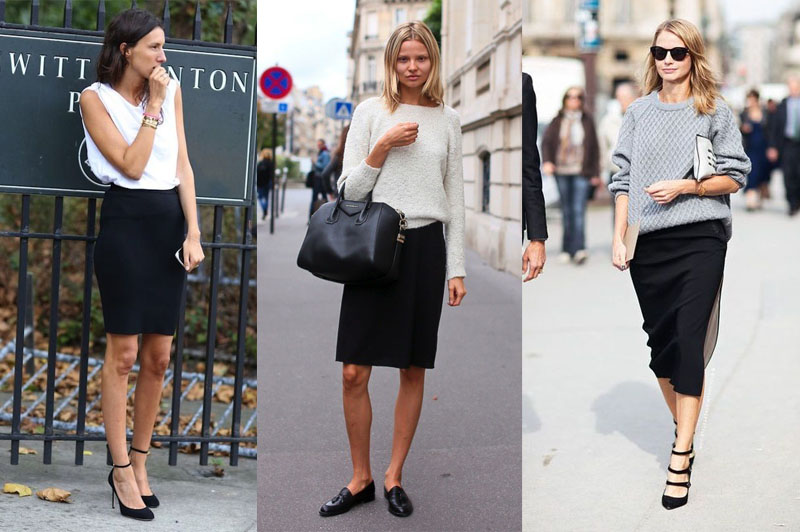 Work capsule wardrobe staple - the black skirt