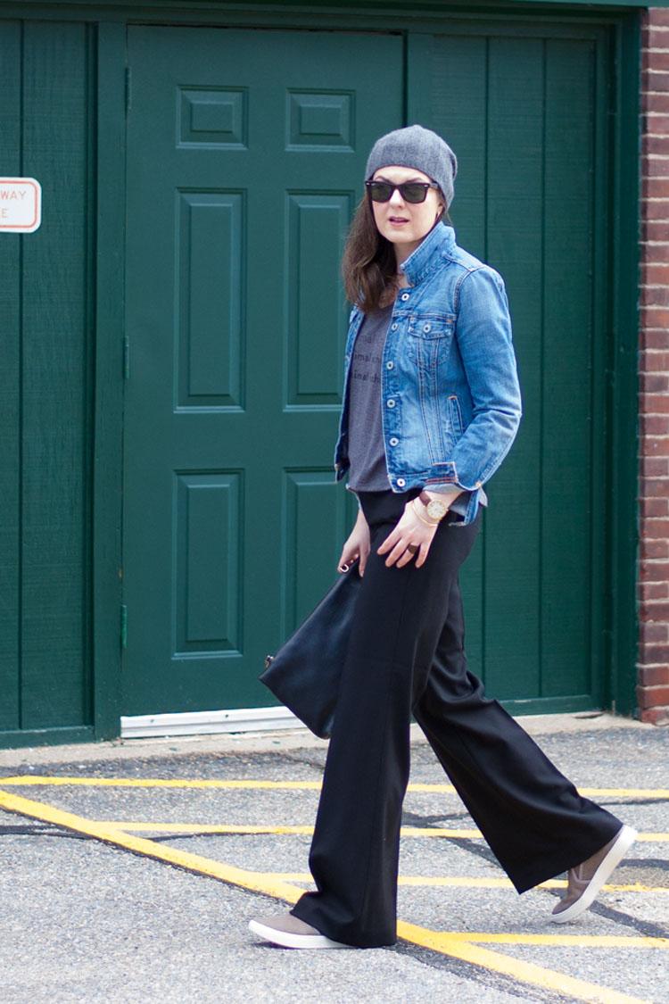 Street style wide leg pants