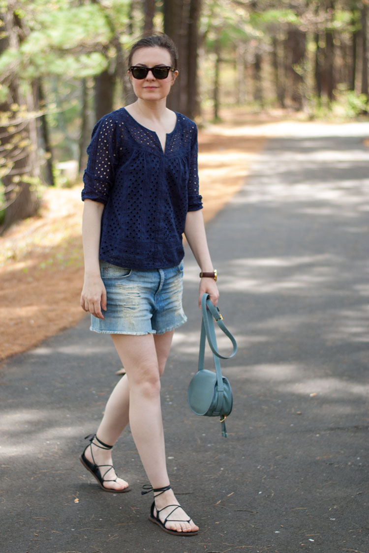 denim cutoffs summer style