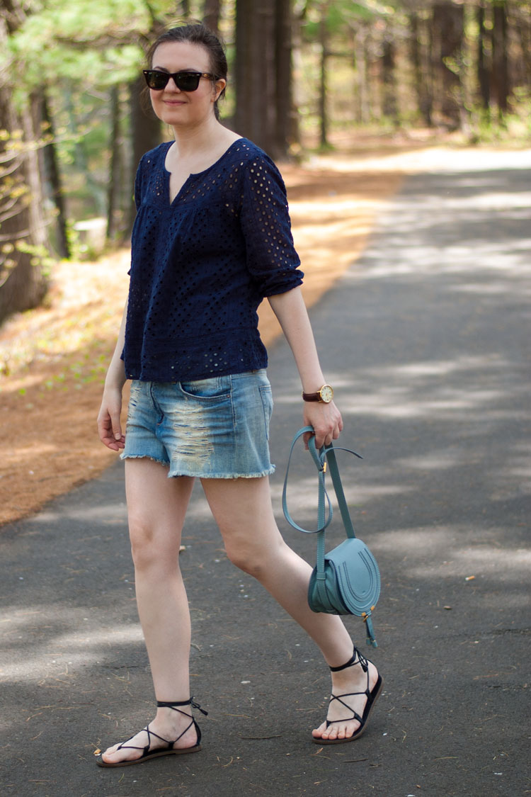 denim shorts summer style