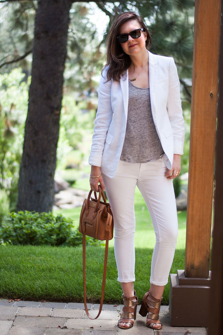 Wear to work summer style white suite