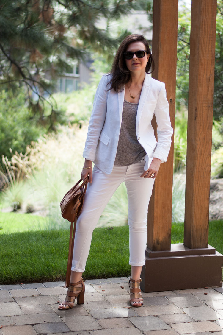 Summer style white suite