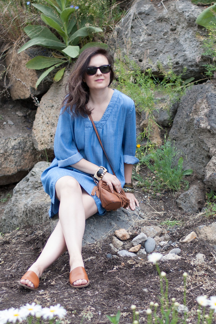 Chambray dress summer style idea