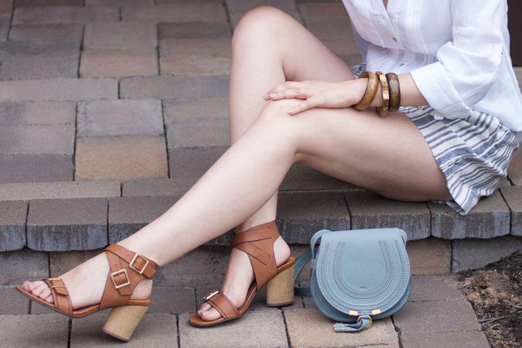 Style blogger summer style Chloe Marcie bag