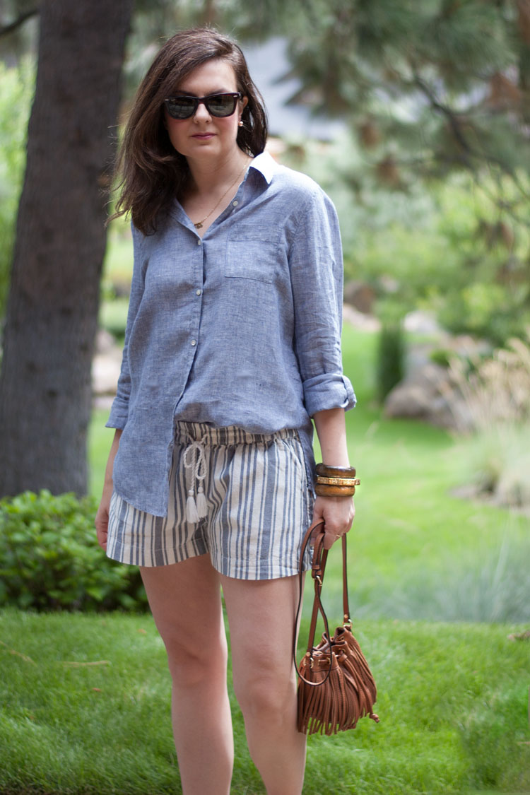 Style blogger striped shorts summer style