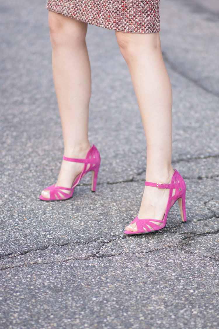 pretty pink high heel shoes sandals