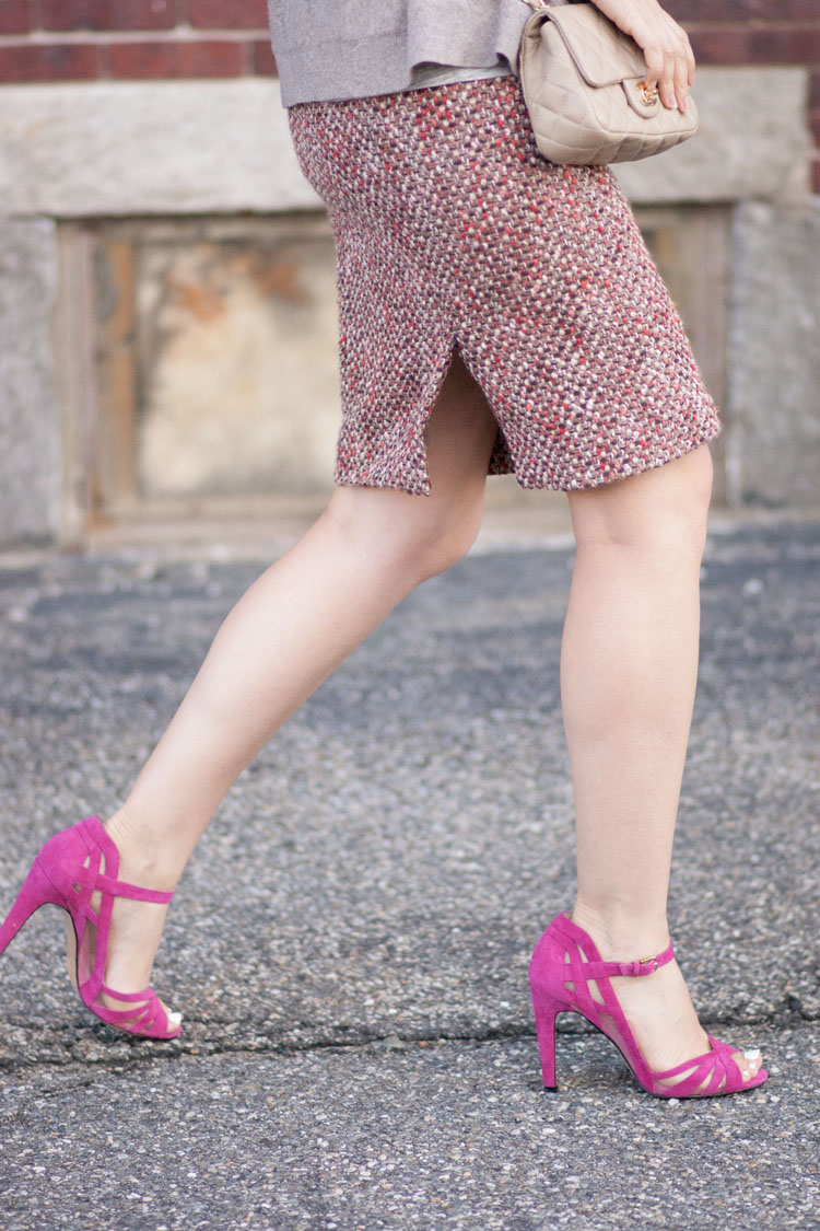 wear pink and blush into fall like a street style blogger