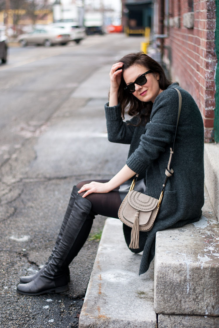 chloe hunter bag taupe grey otk boots