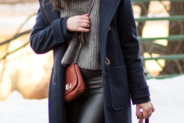 blogger street style chunky zara sweater
