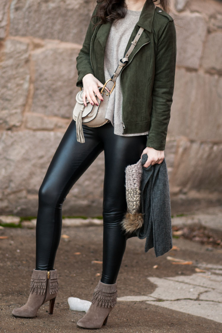 street style blogger leather leggings