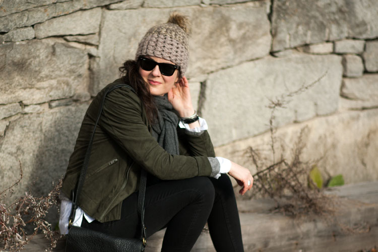 Transitional weather outfit - how to dress like a street style blogger