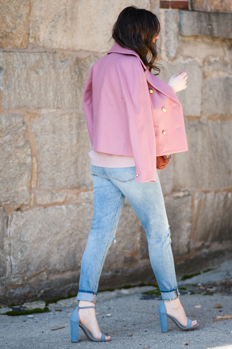 Styling a pink coat like a blogger