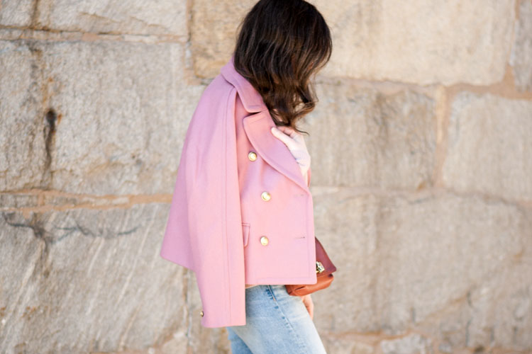 jcrew pink coat pink millitary jacket